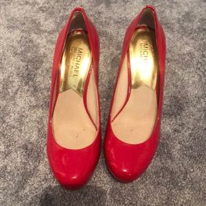 Red Michael Kors Heels